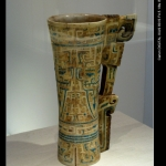 Turquoise Inlaid Ivory Cup: A Luxury Taste of Wine
