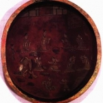 Lacquer Plate from Zhu Ran Tomb: A Painting of Noble Life
